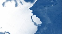 A broken iceberg in Antarctica has opened the
